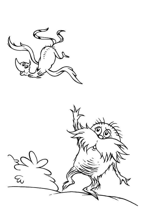 The Lorax, : The Lorax Look Devastated Coloring Pages