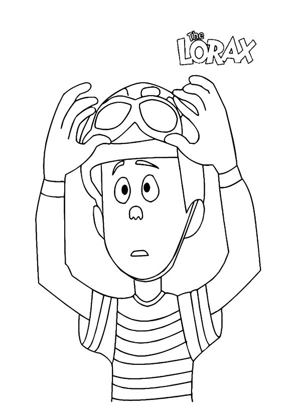The Lorax, : The Lorax Ted Wiggins Put on His Helmet Coloring Pages