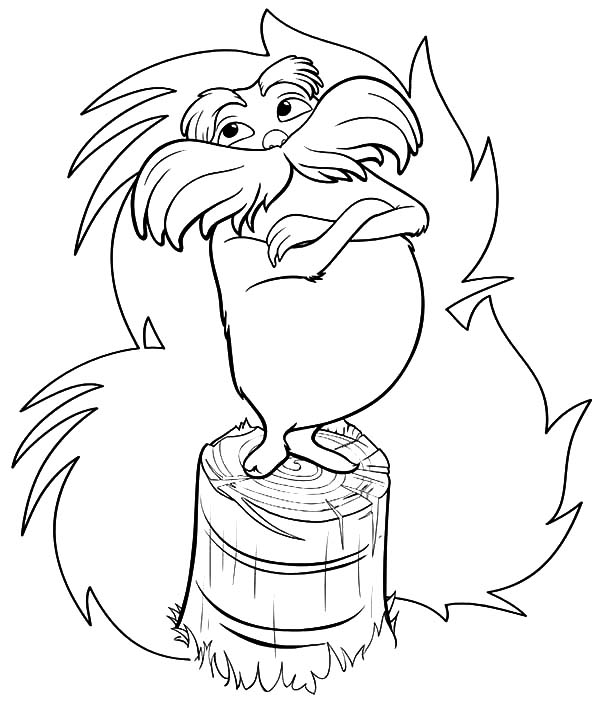 The Lorax, : The Lorax Try to Protect Truffula Tree Coloring Pages