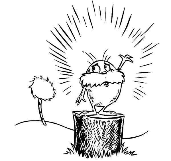 The Lorax, : The Lorax is so Sad Coloring Pages