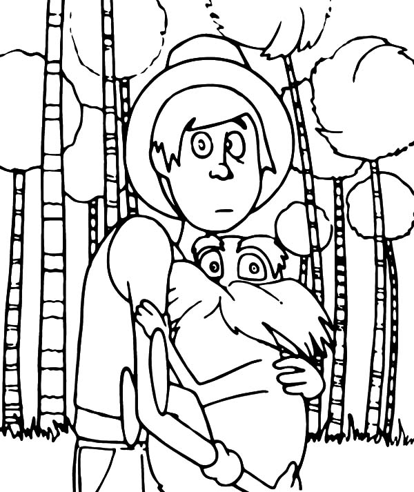 The Lorax, : The Onceler with the Lorax Coloring Pages