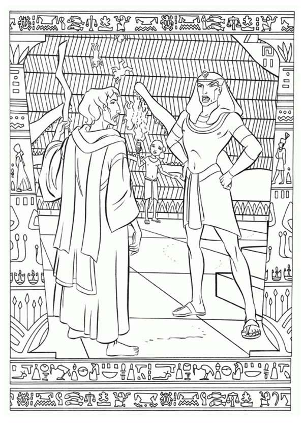 Prince Of Egypt, : The Prince of Egypt Arguing with Ramses Coloring Pages