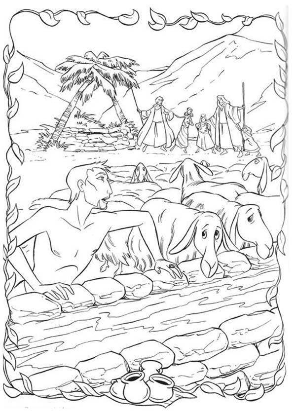 the prince of egypt hiding behind sheeps coloring pages