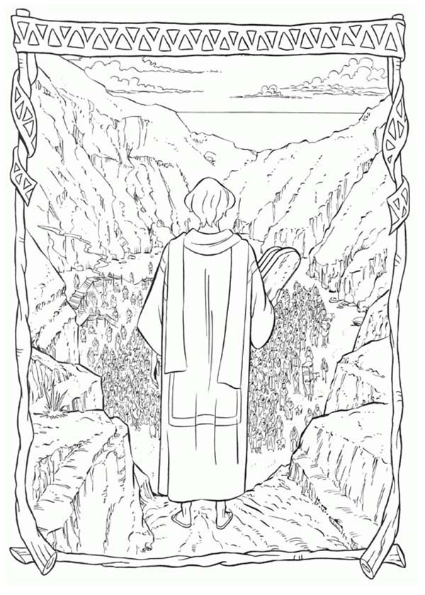 Prince Of Egypt, : The Prince of Egypt Holding the Stone Tablets of the Law Coloring Pages