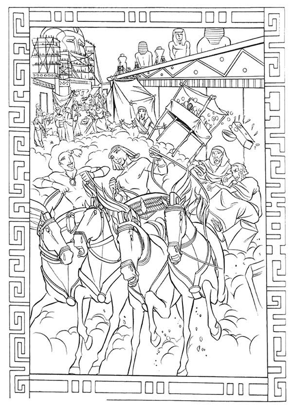 Prince Of Egypt, : The Prince of Egypt Making Mess at the Marketplace Coloring Pages