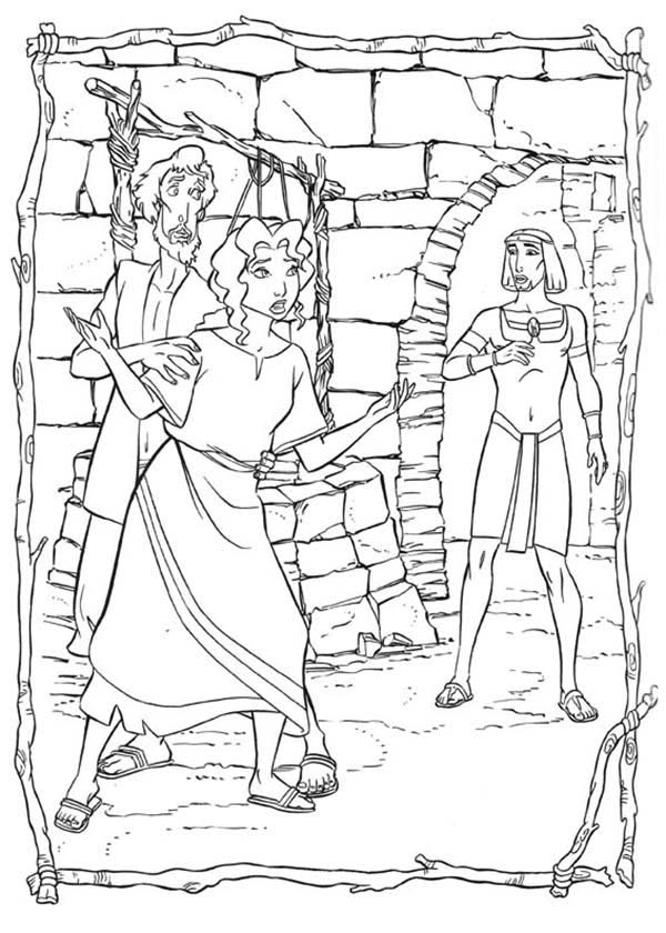 Prince Of Egypt, : The Prince of Egypt Meet Miriam Coloring Pages