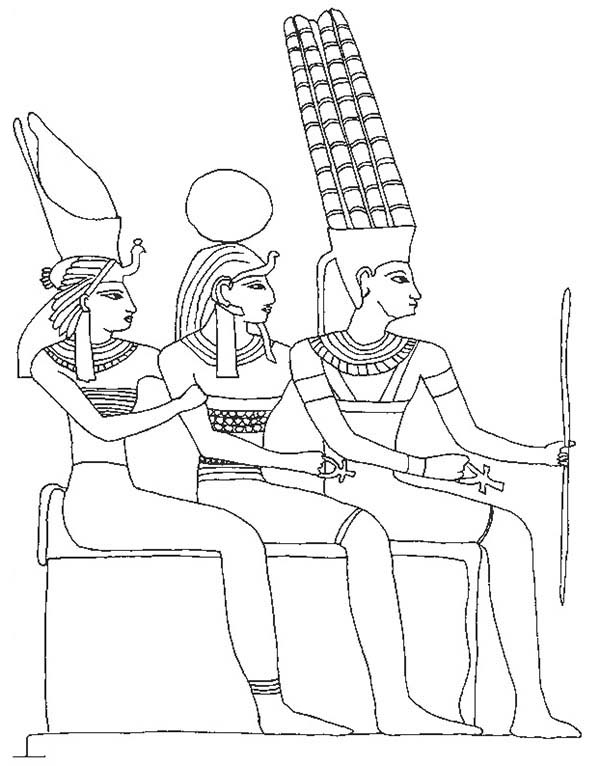 The Prince of Egypt Pharaoh Relief Coloring Pages | Coloring Sun