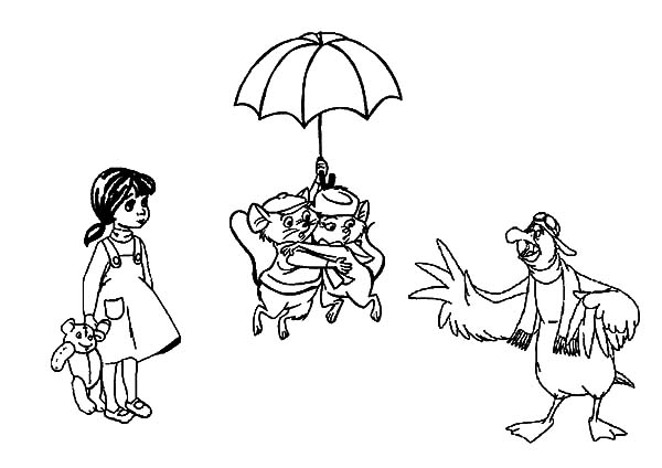 The Rescuers, : The Rescuers Characters Coloring Pages