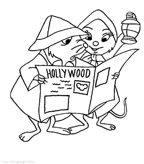 the rescuers miss bianca and bernard looking for a clue in newspaper coloring pages