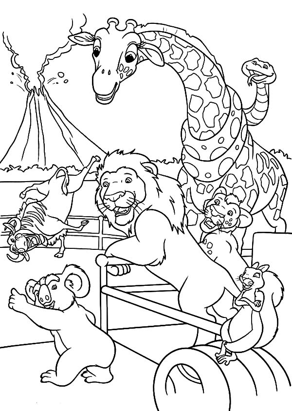 The Wild, : The Wild Characters Chit Chat Coloring Pages