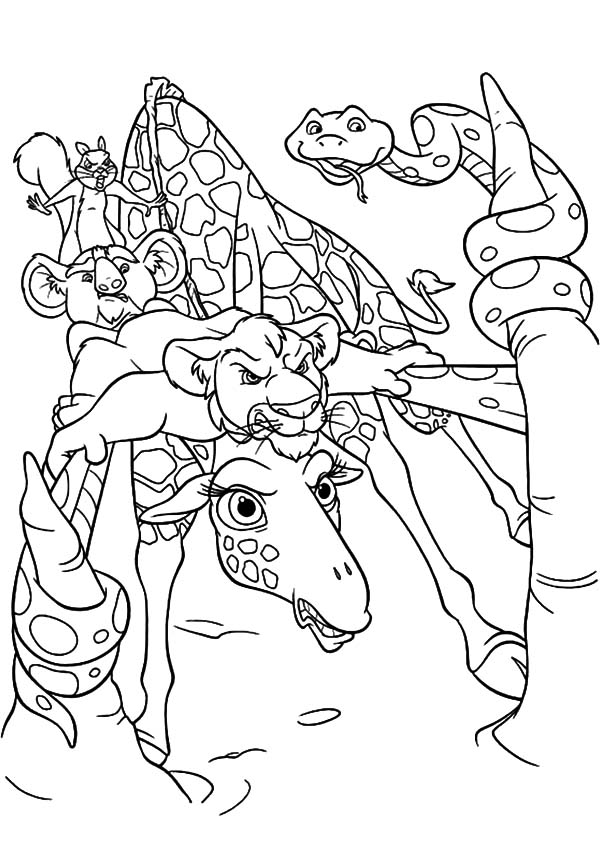 The Wild, : The Wild Ready to Attack Coloring Pages
