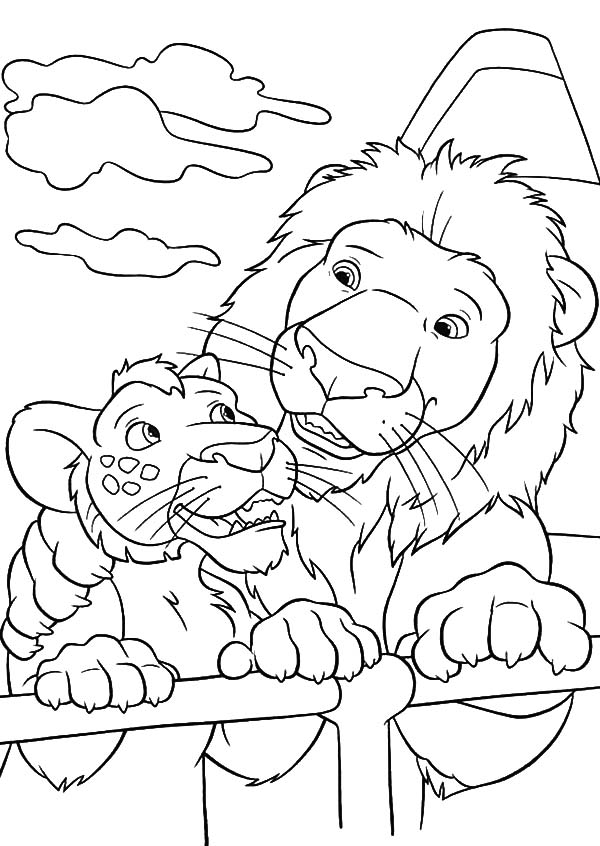 The Wild, : The Wild Samson Talking to Ryan Coloring Pages