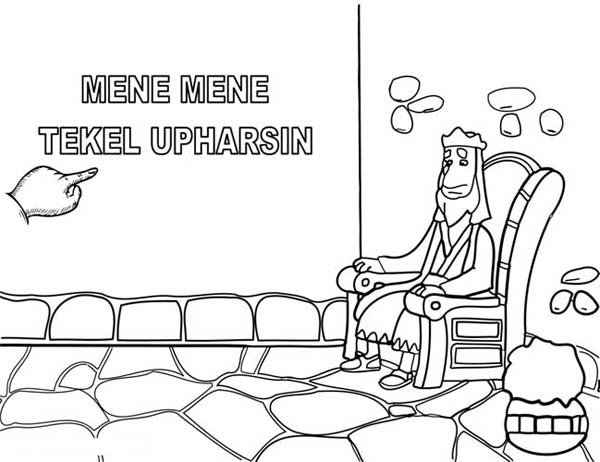 King Nebuchadnezzar, : The Writting on the Wall King Nebuchadnezzar Coloring Pages