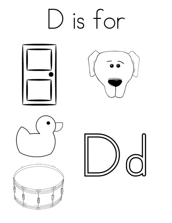 This Letter D Words Coloring Page This Letter D Words Coloring