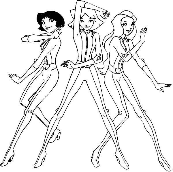 Totall Spies, : Totall Spies Pose Coloring Pages