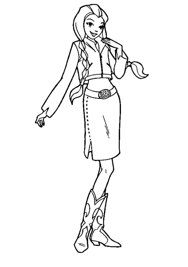 Totall Spies, : Totall Spies Sam Wear Traditional Clothing Coloring Pages