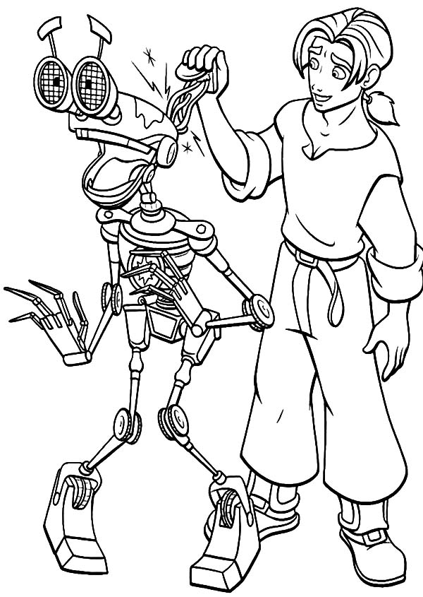 Treasure Planet, : Treasure Planet Jim Hawkins Pranks B.E.N Coloring Pages