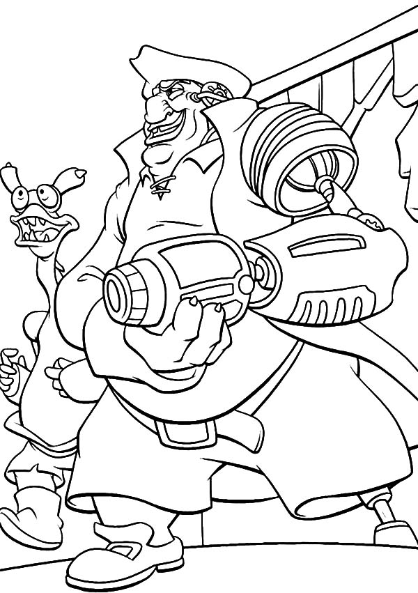 Treasure Planet, : Treasure Planet John Silver Cyborg Arm's Coloring Pages