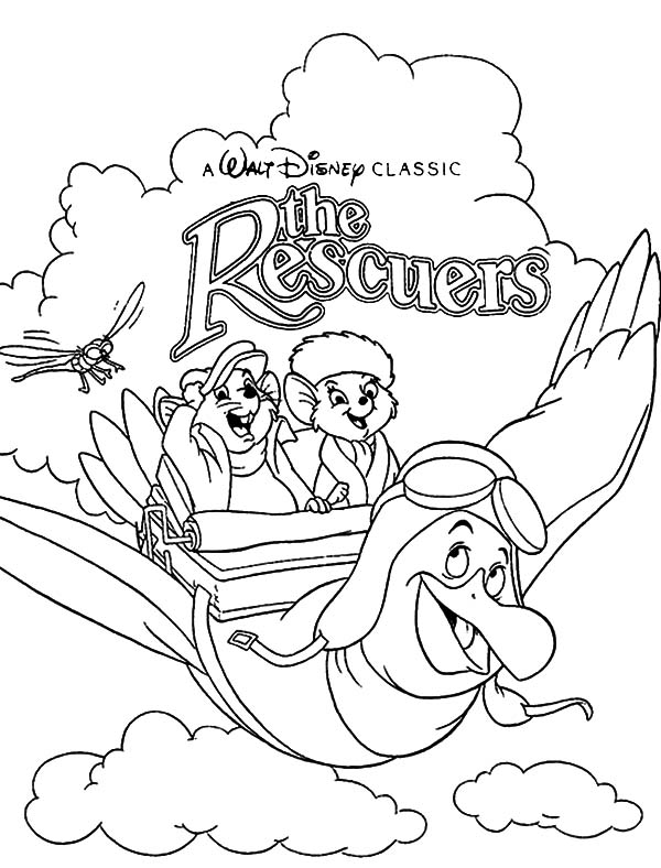 The Rescuers, : Walt Disney Classic the Rescuers Coloring Pages