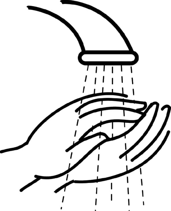 Hand Washing, : Washing Hand Coloring Pages