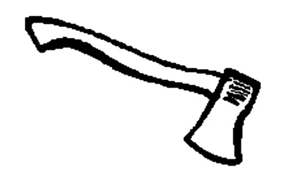 hatchet, : Working Tool Hatchet Coloring Pages