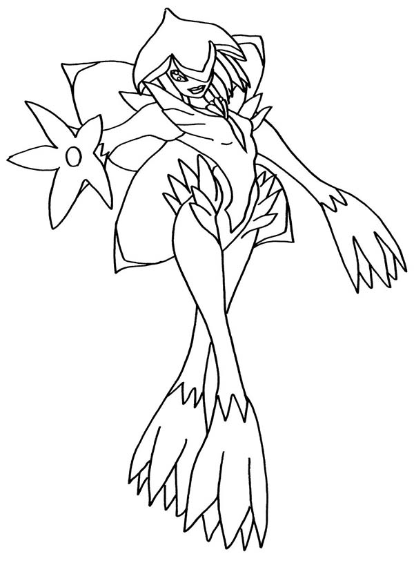 Digimon, : A Fairy Digimon Which Has Lilac Appearance Coloring Page