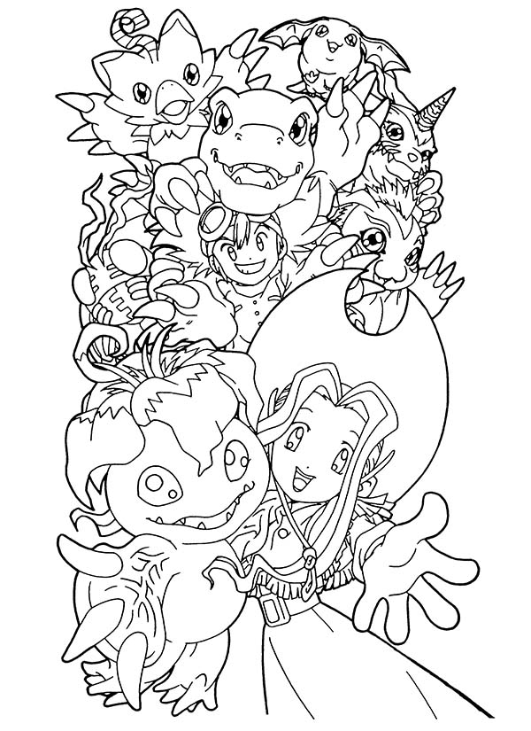 Digimon, : Adventure at Digimon World Coloring Page
