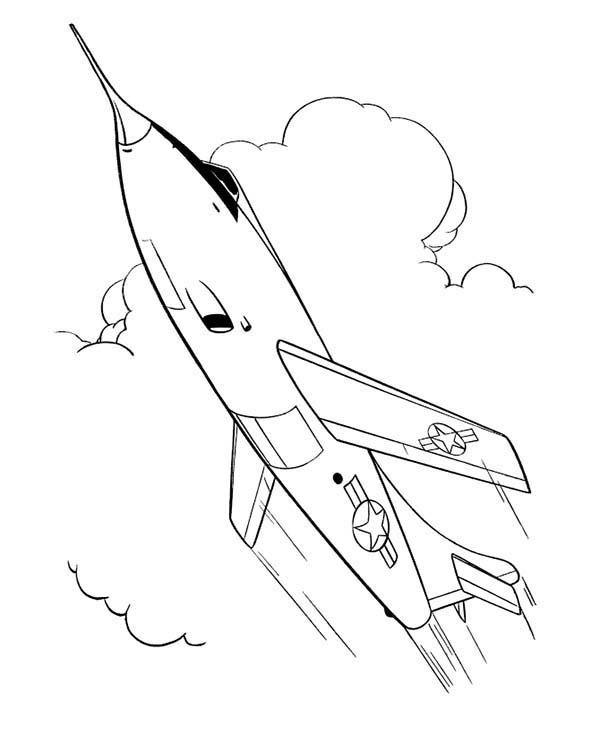 Armed Forces Day, : Aerial Show in Armed Forces Day Coloring Page