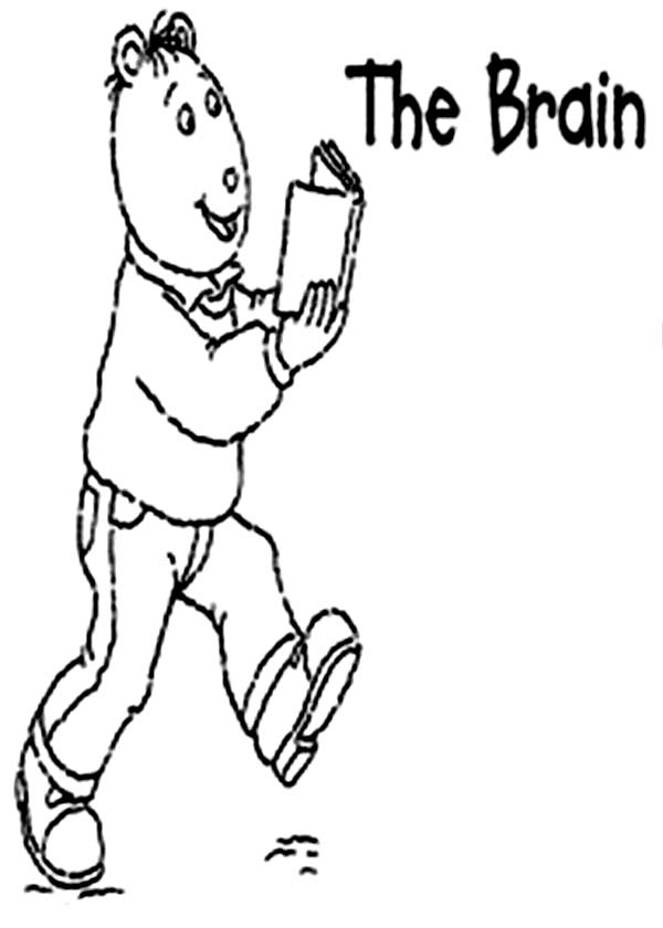 Arthur, : Alan Powers is The Brain from Arthur Coloring Page