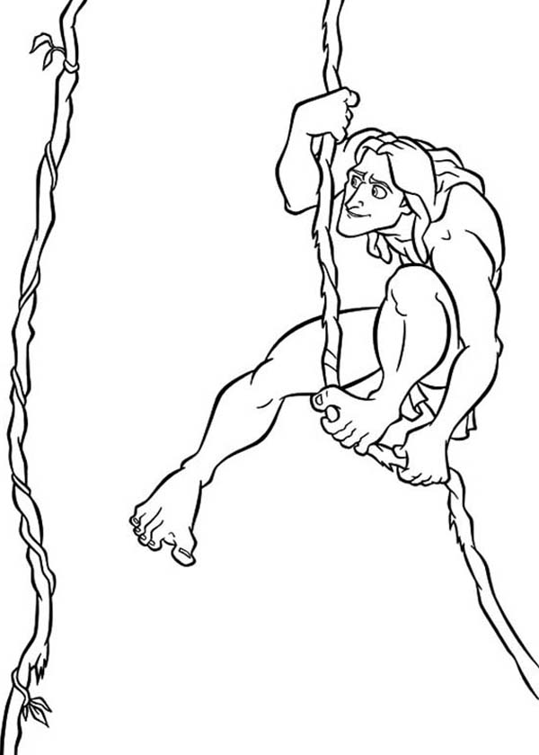 Tarzan, : Amazing Adventure of Tarzan Coloring Page