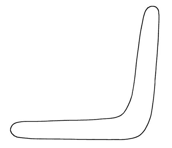 Boomerang, : Amazing Boomerang Coloring Page