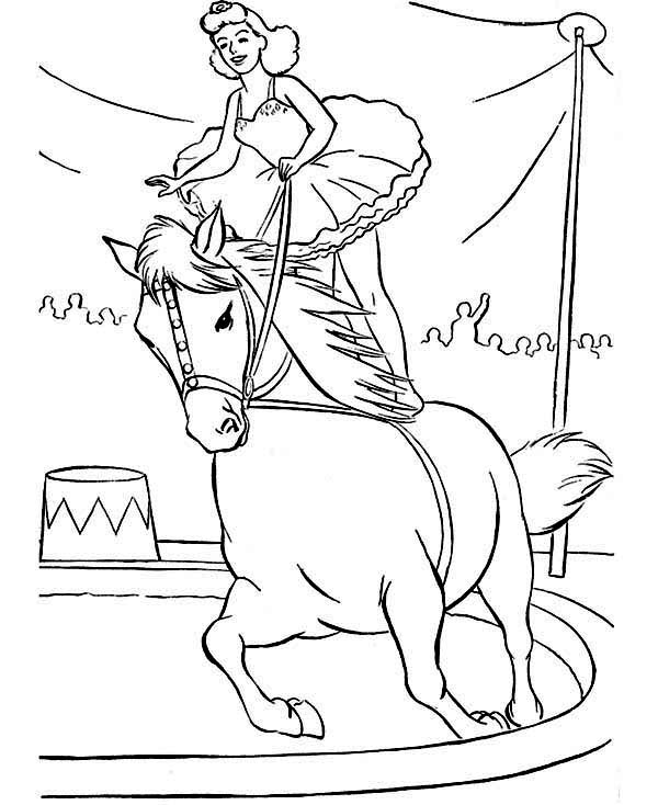 Circus, : Amazing Circus Show Coloring Page