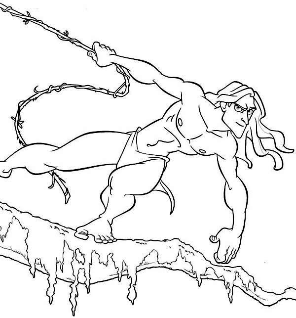 Tarzan, : Amazing Disney Tarzan Film Coloring Page