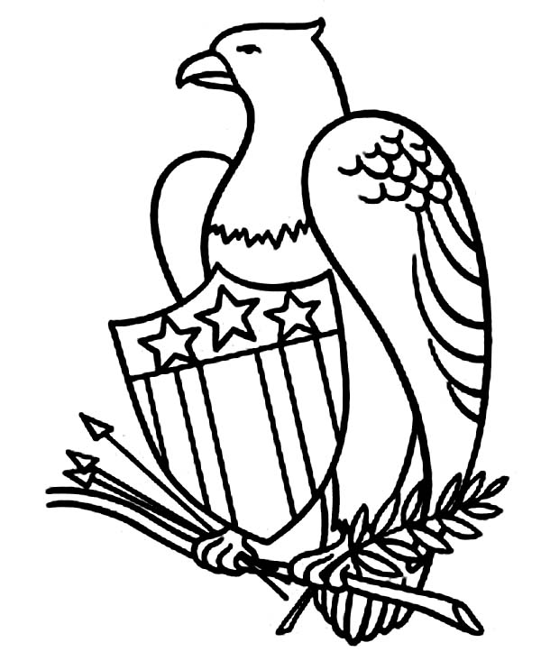Eagle, : American Eagle Coloring Page