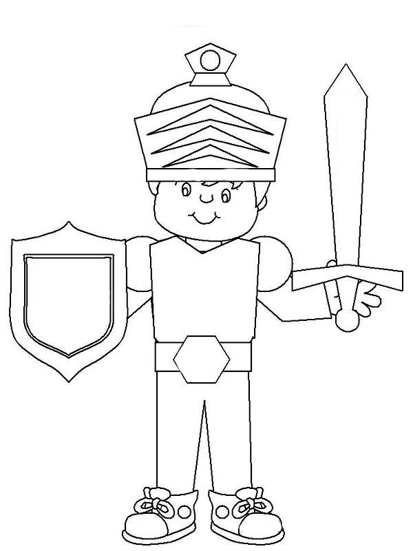 Armor of God, : Armor of God Coloring Page for Kids