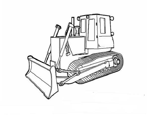 Bulldozer, : Armored Bulldozer Coloring Page