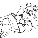 Dw Read From Arthur Coloring Page Coloring Sun