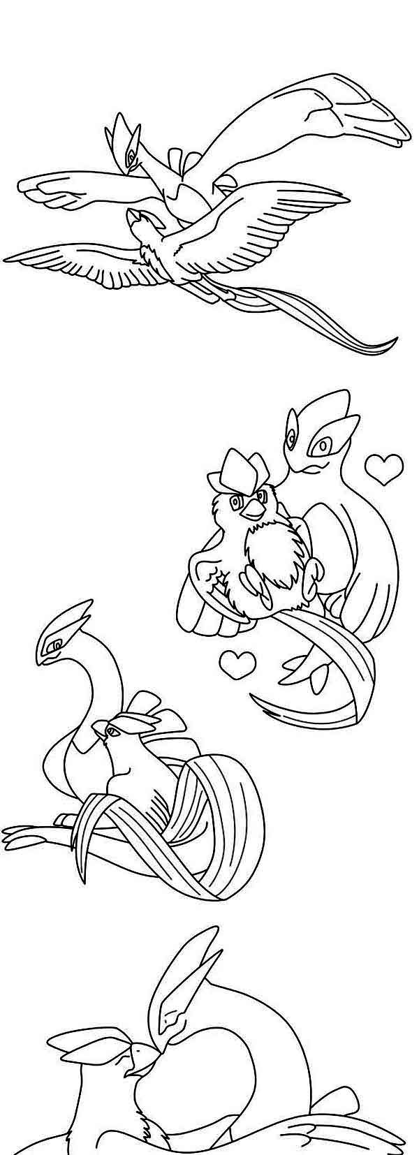 Articuno, : Articuno Bird Activity Coloring Page