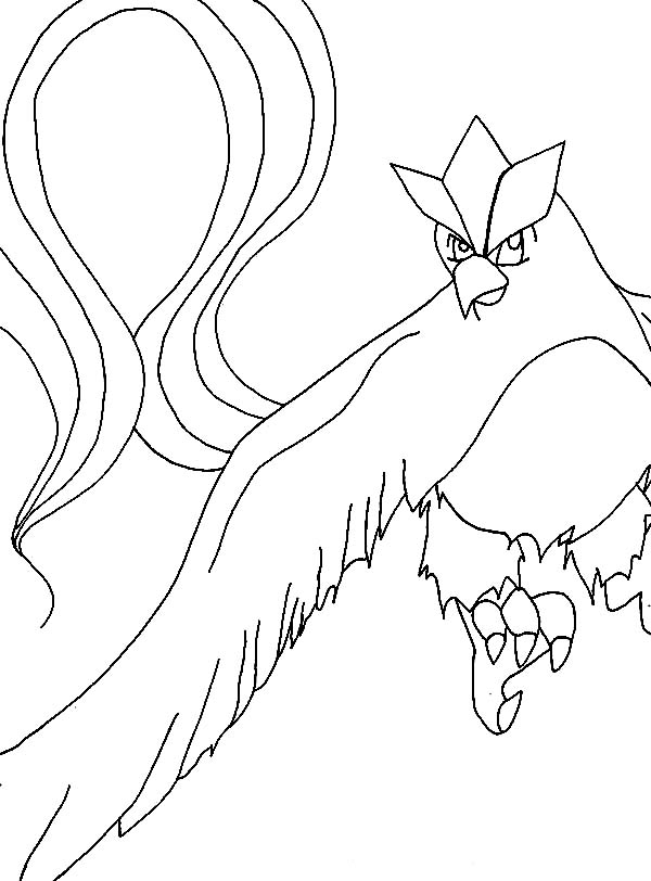Articuno, : Articuno Pokemon is Angry Coloring Page