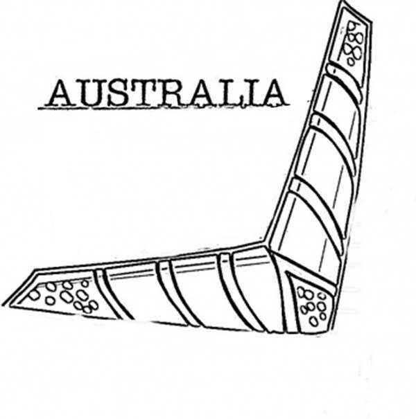 Boomerang, : Australian Boomerang Coloring Page