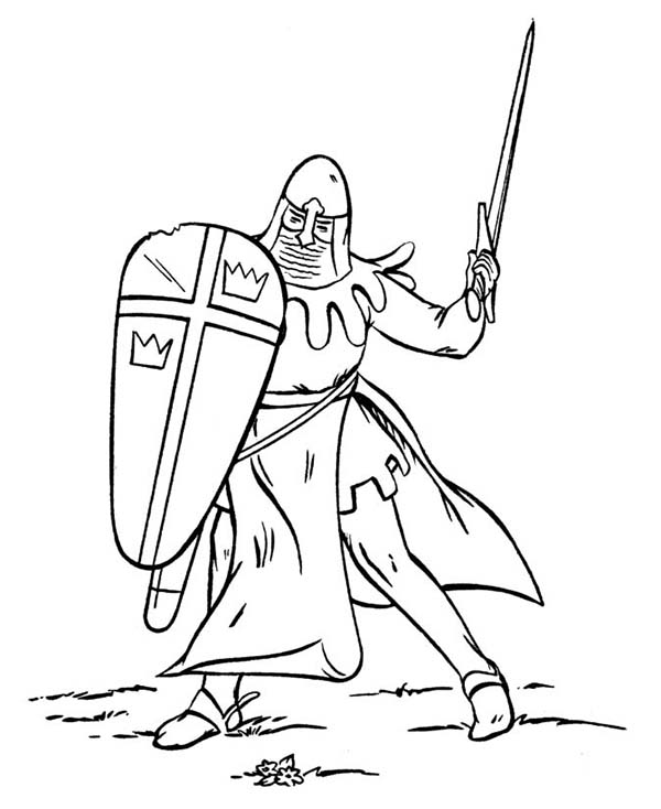 Armor of God, : Awesome Armor of God for Battlefield Coloring Page
