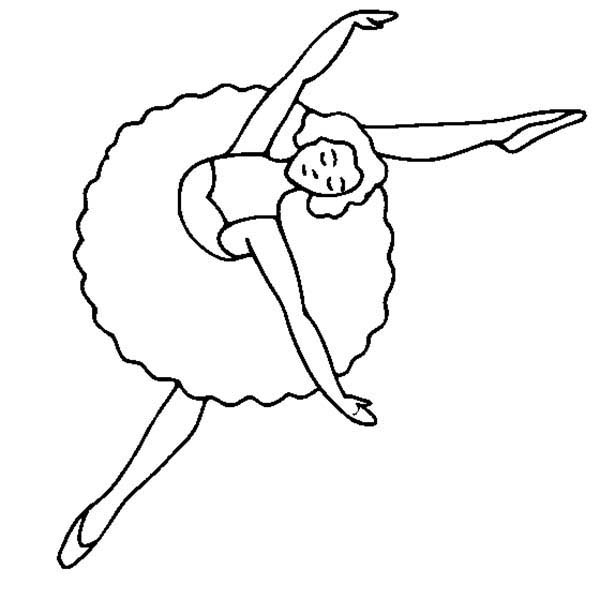 Dance, : Awesome Ballet Dance Show Coloring Page