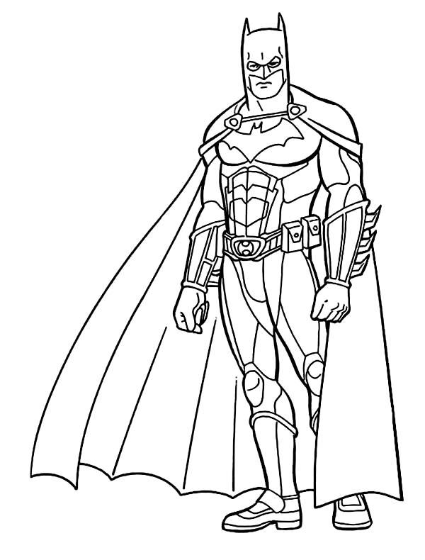 Batman, : Awesome Batman Coloring Page