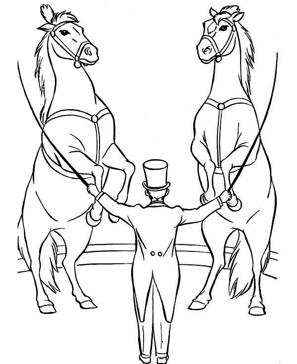 Circus, : Awesome Circus Show Coloring Page