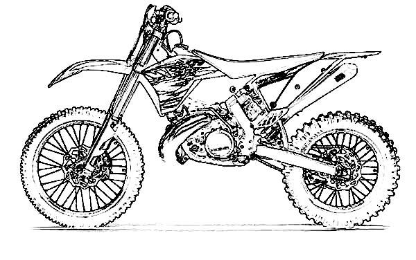 Dirt Bike, : Awesome Dirt Bike Skecth Coloring Page