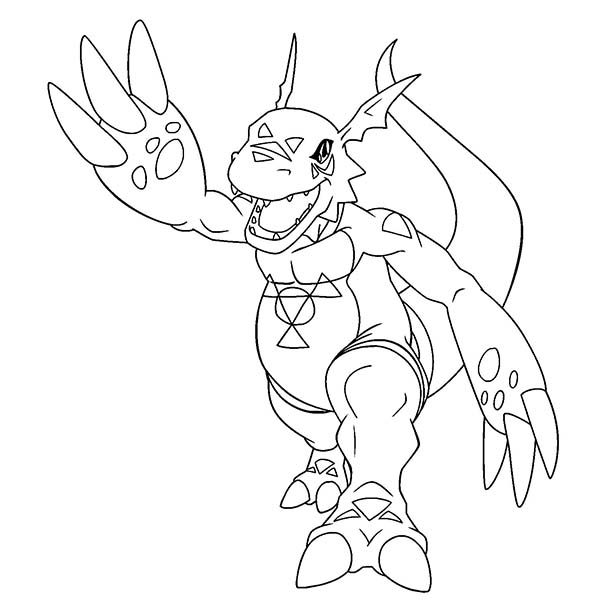 Digimon, : Awesome Drawing of Digimon Coloring Page