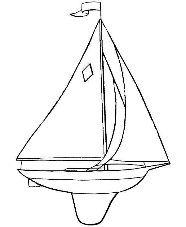 Boat, : Awesome Picture of Sail Boat Coloring Page