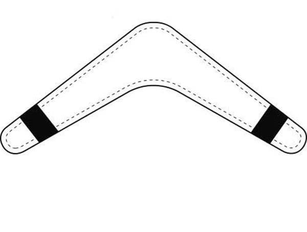 Boomerang, : Awesome Weapon Boomerang Coloring Page