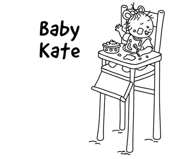 Arthur, : Baby Kate Read is Arthur Youngest Sister Coloring Page