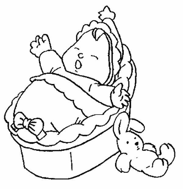 Baby, : Baby Screaming Because He is Hungry Coloring Page